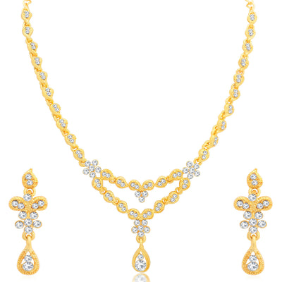 Sukkhi Charming Gold Plated Necklace Set for Women