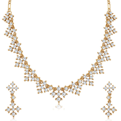 Sukkhi Glistening Mehandi Gold Plated Necklace Set for Women