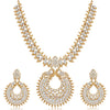 Sukkhi Modish Mehandi Gold Plated Peacock Necklace Set for Women