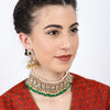 Sukkhi Exclusive Kundan Gold Plated Choker Neckalce Set for Women