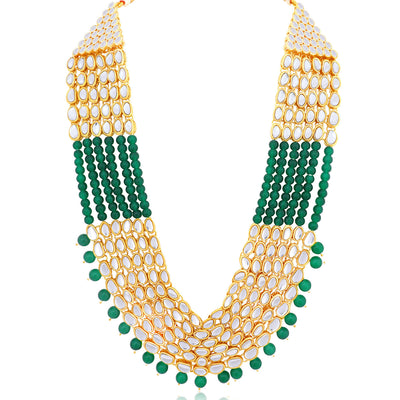 Sukkhi Stunning Gold Plated Six String Kundan Necklace Set For Women