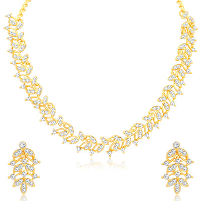 Sukkhi Prismatic Gold Plated Necklace Set for Women