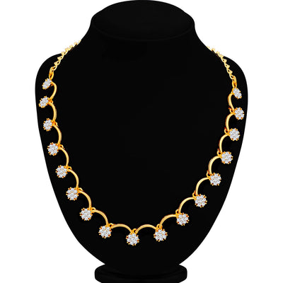 Sukkhi Vintage Gold Plated Floral Necklace Set for Women