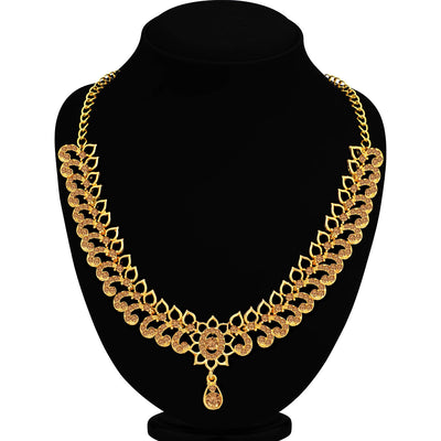 Sukkhi Classy LCT Gold Plated Choker Necklace Set for Women