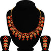 Sukkhi Classy LCT and Red Stone Gold Plated Choker Necklace Set for Women
