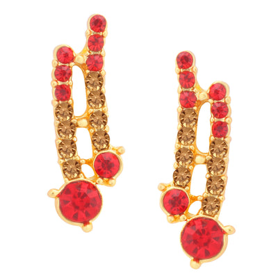 Sukkhi Graceful LCT and Red Stone Gold Plated Necklace Set for Women