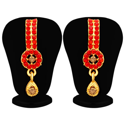 Sukkhi Blossomy LCT and Red Stone Gold Plated Pear Necklace Set for Women