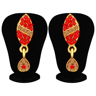 Sukkhi Unique LCT and Red Stone Gold Plated Necklace Set for Women