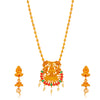 Sukkhi Intricately Gold Plated Laxmi Collar Necklace Set for Women