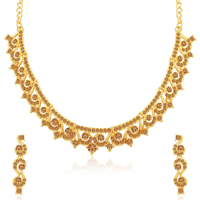 Sukkhi Classy LCT Gold Plated Necklace Set for Women