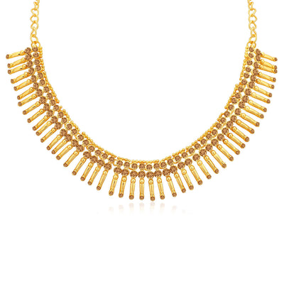 Sukkhi Classic LCT Gold Plated Choker Necklace Set for Women