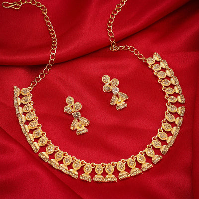 Sukkhi Fancy LCT Gold Plated Jhumki Necklace Set for Women