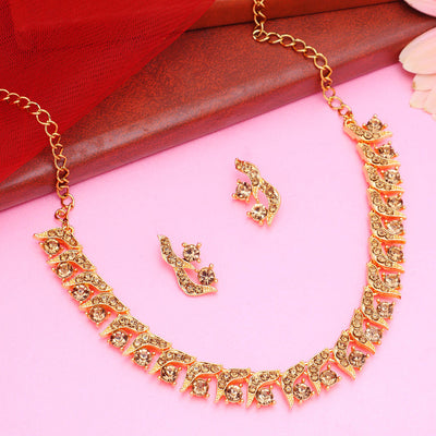 Sukkhi Gleaming LCT Gold Plated Necklace Set for Women