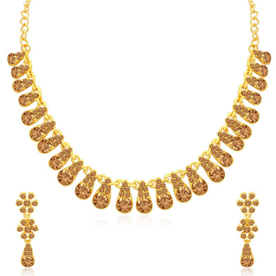 Sukkhi Blossomy LCT Gold Plated Necklace Set Combo for Women