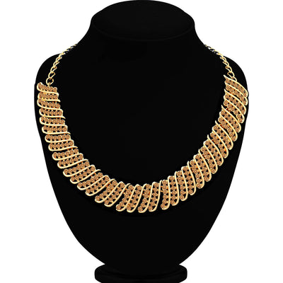 Sukkhi Elegant LCT Gold Plated Choker Necklace Set for Women