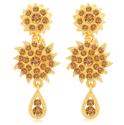 Sukkhi Incredible LCT Gold Plated Floral Necklace Set for Women