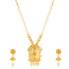 Sukkhi Sensational Gold Plated Peacock Collar Necklace Set for Women