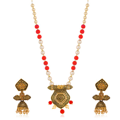 Sukkhi Tibale Collar Gold Plated Necklace Set Set for Women