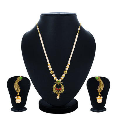 Sukkhi Youthful Collar Gold Plated Necklace Set Set for Women