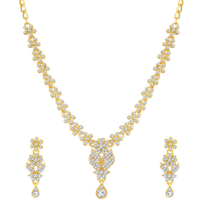 Sukkhi Incredible Gold Plated Floral Necklace Set For Women