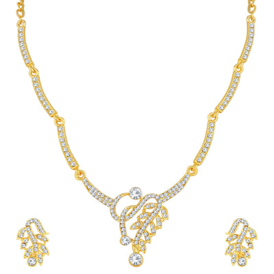 Sukkhi Marvellous Gold Plated Leafy Necklace Set For Women