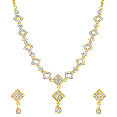 Sukkhi Eye-Catching Gold Plated Necklace Set For Women