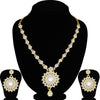 Sukkhi Lovely Gold Plated Floral Necklace Set For Women