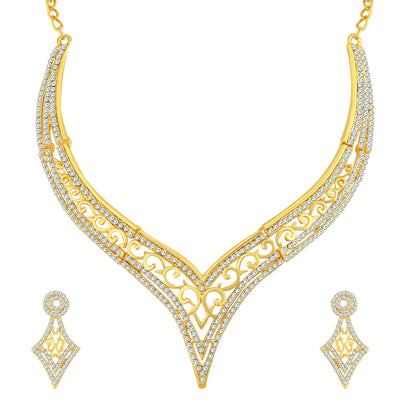 Sukkhi Designer Gold Plated Necklace Set For Women
