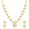 Sukkhi Designer Gold Plated Floral Necklace Set For Women