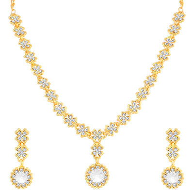Sukkhi Superior Gold Plated Floral Necklace Set For Women