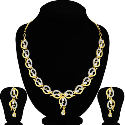 Sukkhi Glorious Gold Plated Kundan Necklace Set For Women