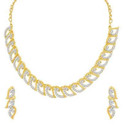 Sukkhi Fashionable Gold Plated Leafy Necklace Set For Women