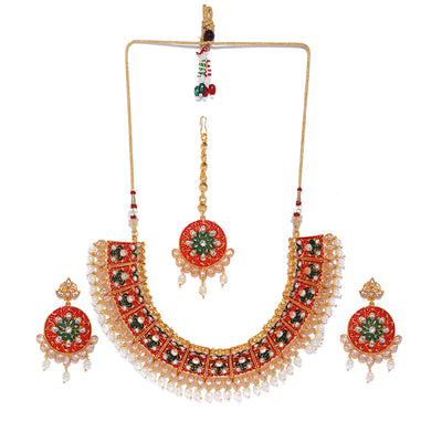 Sukkhi Mint Collection Gold Plated Neckalce Set