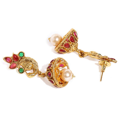Sukkhi Youthful Gold Plated Temple Necklace Set for Women