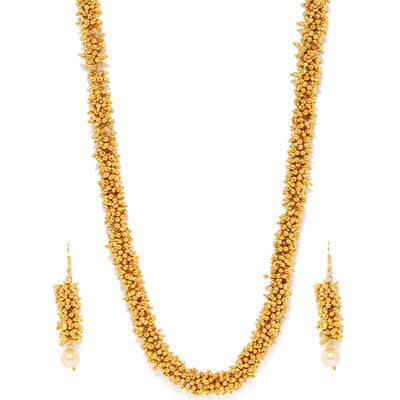Sukkhi Marquise Gold Plated Bajari Neckalce Set for Women
