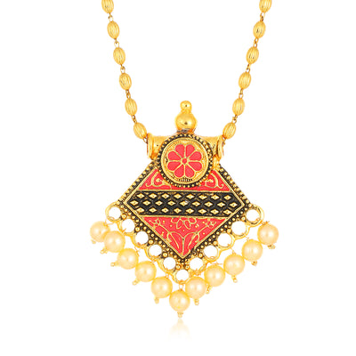 Sukkhi Wavy Collar Gold Plated Necklace Set Set for Women