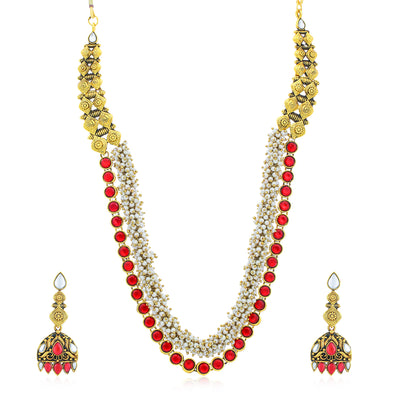 Sukkhi Elegant Gold Plated Necklace Set for Women