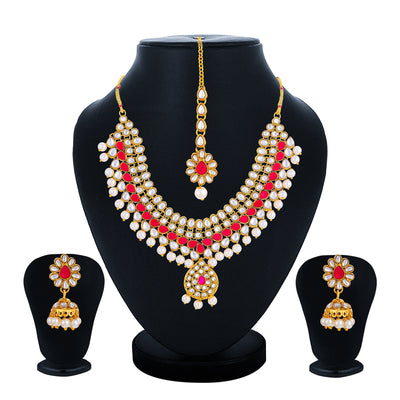 Sukkhi Equisite Gold Plated Necklace Set for Women