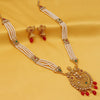 Sukkhi Floral LCT Gold Plated Long Haram Necklace Set For Women