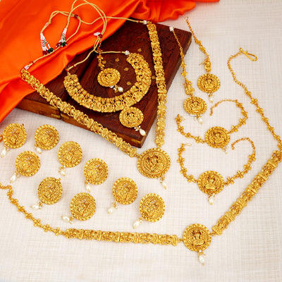 Sukkhi South Indian Temple Dulhan Set (Gold Plated) / Necklace Set