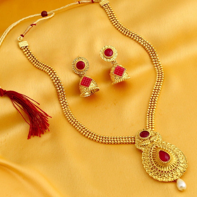 c110abbeb6475 Buy Necklace Sets Online, Temple Jewellery, Gold Plated Neckace Sets ...