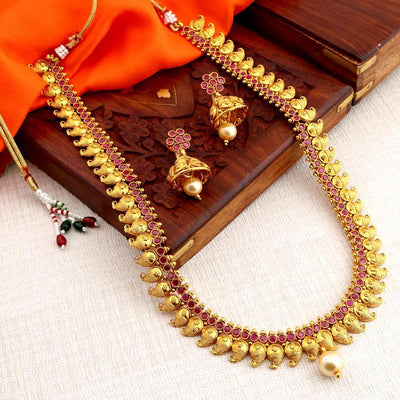 Sukkhi Motif Gold Plated Necklace Set for Women
