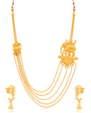 0019 Sukkhi 5 String Bahubali Inspired Gold Plated Necklace Set for Women