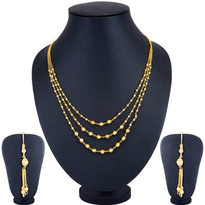 Sukkhi Brilliant String Gold Plated Necklace Set for Women