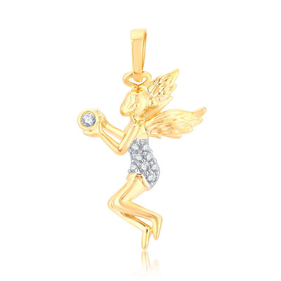 Sukkhi Elegant Gold Plated Cupid Angle Shaped Pendant for women