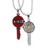 Sukkhi Key With Female Symbol 2 Pcs Pendant With Chain For Men