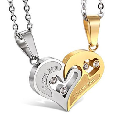 Sukkhi Astonish Valentine Heart Cubic Zirconia Gold Plated Pendant for Women
