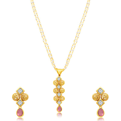Sukkhi Gorgeous Gold Plated Pendant Set For Women