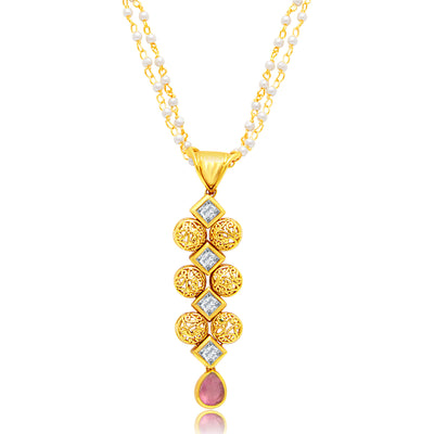 Sukkhi Gorgeous Gold Plated Pendant Set For Women-1