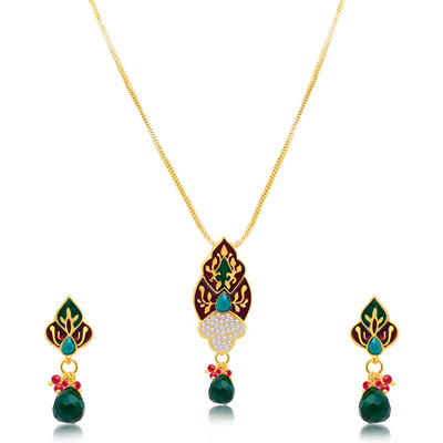 Sukkhi Astonish Gold Plated Pendant Set For Women